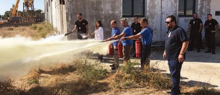Εκπαίδευση πυρόσβεσης στην ζυθοποιία Μακεδονίας-Θράκης