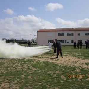 Εκπαίδευση πυρόσβεσης στη σχολή Αστυφυλάκων Ν.Ροδόπης