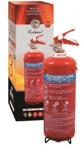 Πυροσβεστήρας 3Kg ξηράς σκόνης EXCLUSIVE ABC 40% με Δοχείο Μονόραφο και Κλείστρο Μεσαίο με Βαλβίδα Ασφαλείας Μανομέτρου - ΣΥΜΠΕΡΙΛΑΜΒΑΝΕΤΑΙ ΜΕΤΑΛΛΙΚΗ ΒΑΣΗ